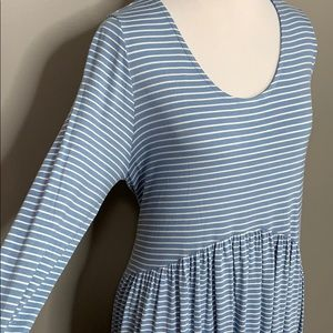 Agnes & Dora Dresses - Midi Dress Denim and Ivory Stripe